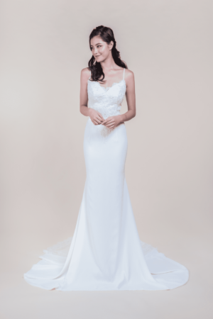 Beatrice-Minimalist Wedding Gown