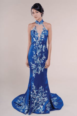 Delphine-affordable Wedding Cheongsam for rent in Singapore