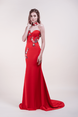 Kei-affordable Wedding Cheongsam for rent in Singapore