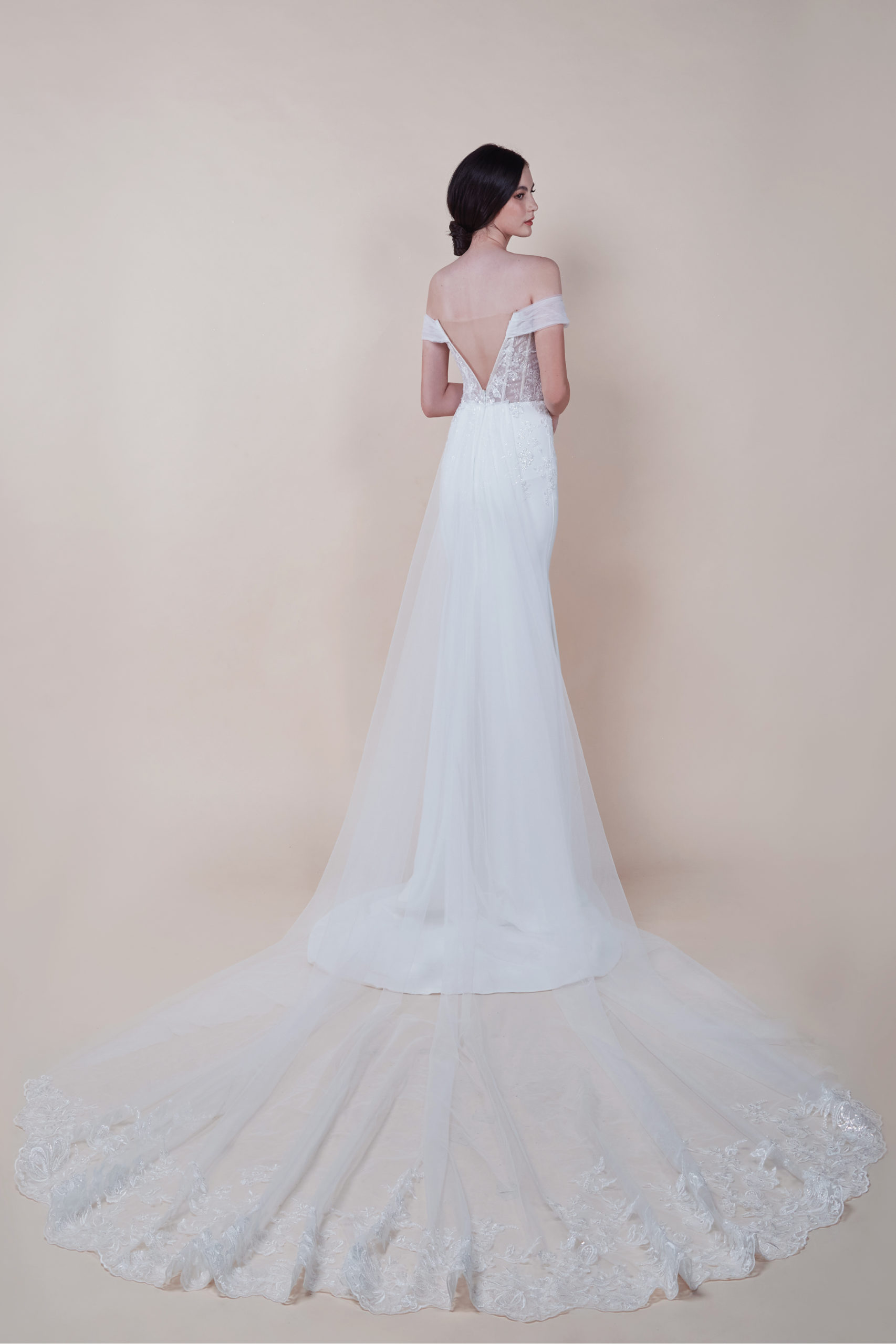 Ember-with-detachable-train-affordable-off-shoulder-Wedding-Gown-for-rent
