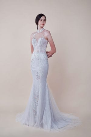 Lucie - affordable Wedding Cheongsam for rent in Singapore